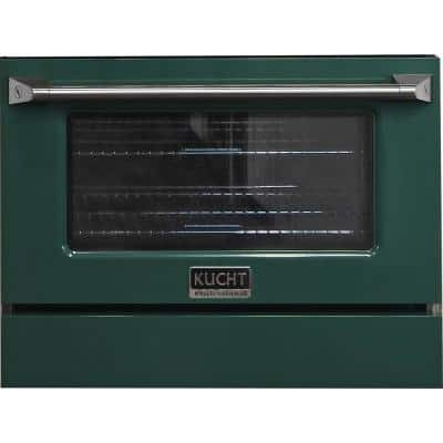 Oven Door and Kick-Plate 30 in. Green Color for KNG301