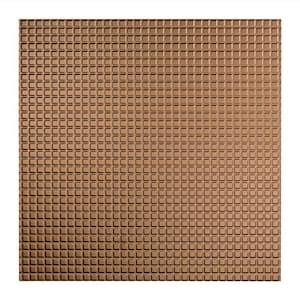 Square Argent Bronze 2 ft. x 2 ft. Lay In Vinyl Ceiling Tile (20 sq. ft.)