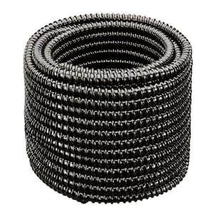 1/2 in. Dia x 50 ft. UL Sizing Black Non Kink, Corrugated, Flexible PVC Pond Tubing