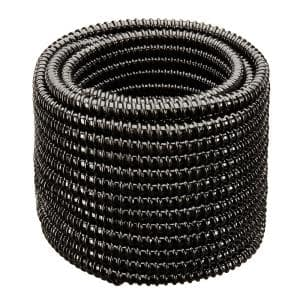 1-1/2 in. Dia x 100 ft. UL Sizing Black Non Kink, Corrugated, Flexible PVC Pond Tubing