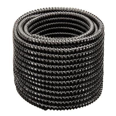1-1/2 in. Dia x 100 ft. UL Sizing Black Non Kink, Corrugated, Flexible PVC Pond Tubing