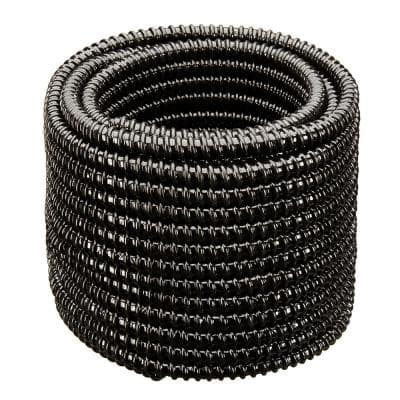 1-1/2 in. Dia x 50 ft. MM Sizing Black Non Kink, Corrugated, Flexible PVC Pond Tubing