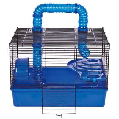Tube Time Hamster Cage with Wheel - 20.5 in. x 16.5 in. 19.5 in.