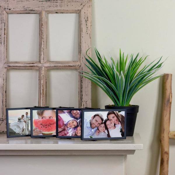 Northlight 4 In X 6 In Black Collapsible Picture Frame For All Occasions New Year S Etc 33906218 The Home Depot