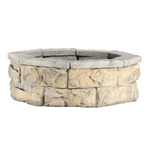 30 in. Fossill Limestone Fire Pit Kit