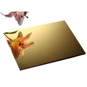 48 in. x 48 in. x 1/8 in. Thick Acrylic Mirror Gold Sheet