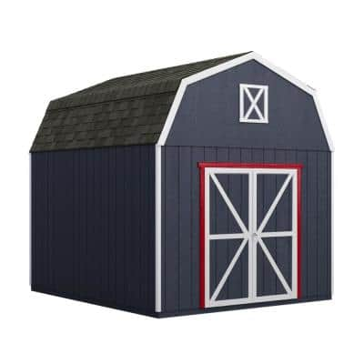 Installed Braymore 10 ft. x 10 ft. Wooden Shed with Autumn Brown Shingles