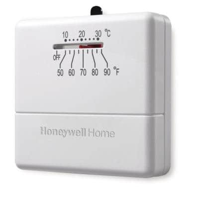 Economy Non-Programmable Thermostat with Microvolt 1H Single Stage Heating