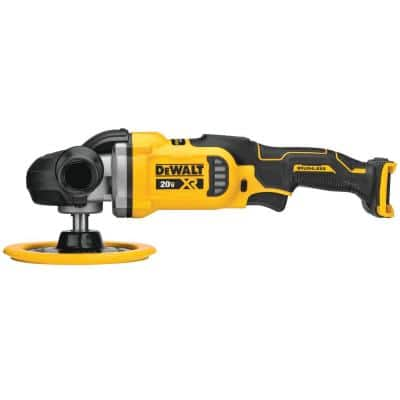 20-Volt MAX XR Cordless Brushless 7 in. Variable Speed Rotary Polisher (Tool-Only)