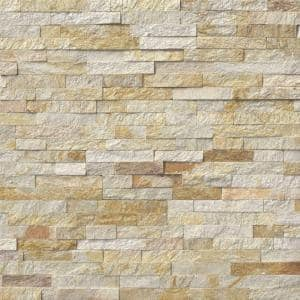 Sparkling Autumn Ledger Panel 6 in. x 24 in. Natural Quartzite Wall Tile (6 sq. ft./Case)
