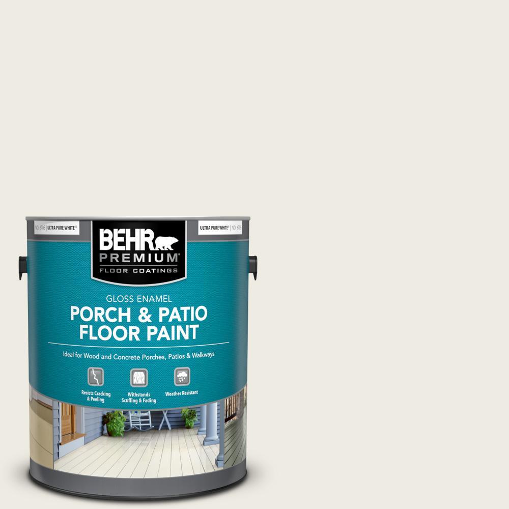 1 gal. #GR-W08 Arcade White Gloss Enamel Interior/Exterior Porch and Patio Floor Paint
