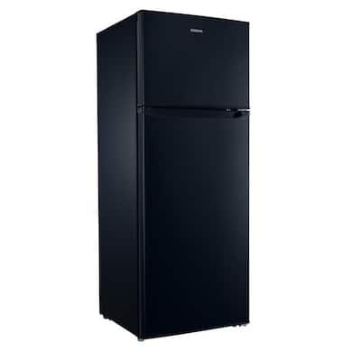 7.6 cu. ft. Top Freezer Refrigerator with Dual Door in Black