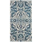 Evoke Ivory/Blue 2 ft. x 4 ft. Floral Area Rug