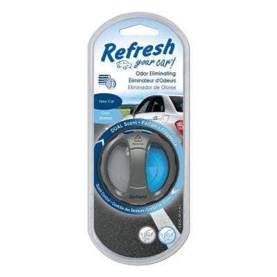 New Car and Cool Breeze Odor Eliminating Dual Scented Oil Diffuser
