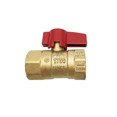 3/4 in. Brass FIP x FIP Threaded Gas Ball Valve