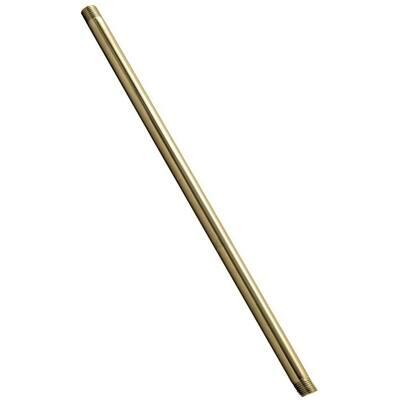 1/2 in. x 8 in. IPS Brass Pipe Nipple in Polished Brass