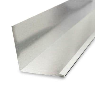 4 in. x 4 in. x 10 ft. Galvanized Steel 90° L Flashing with Open Hem