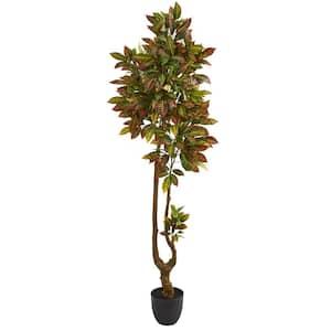 Indoor 6 in. Croton Artificial Tree