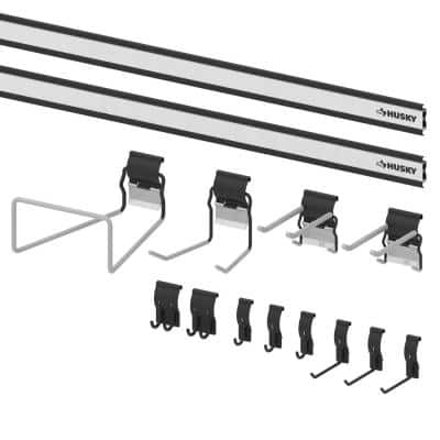 Garage Wall Track All Purpose Project Pack (14-Pieces)