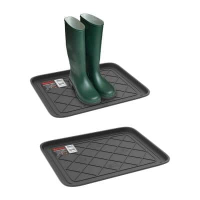15.5 in. W x 19.75 in. L All-Weather Boot Tray (2-Pack)