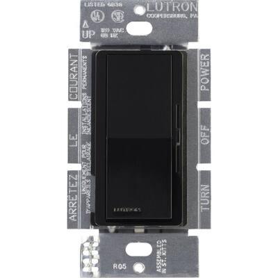 Diva Dimmer for 0-10V LED/Fluourescent Fixtures, 8-Amp, Single-Pole or 3-Way, Black