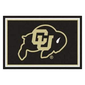 NCAA - University of Colorado Black 8 ft. x 5 ft. Indoor Area Rug