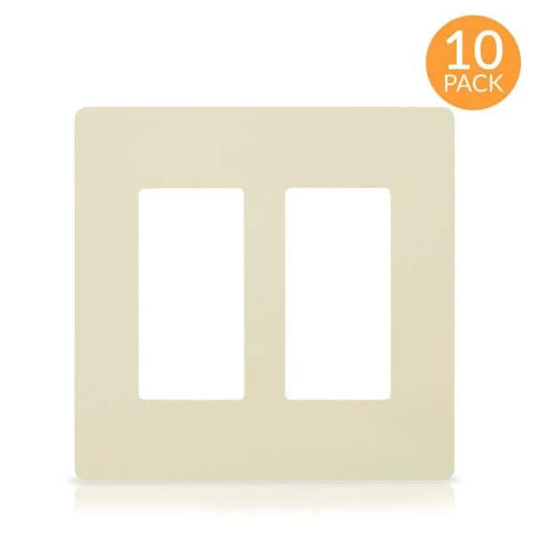Faith 2 Gang Decorator Screwless Wall Plate Gfci Outlet Rocker Light Switch Cover Two Gang Ivory 10 Pack Swp2 Iv 10 The Home Depot