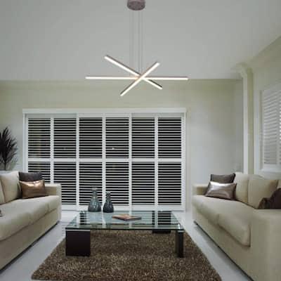 Sirius 97.84-Watt Integrated LED Silver Pendant