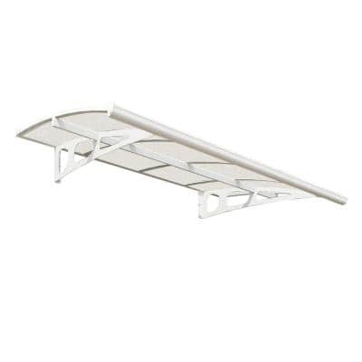 Bordeaux 2230 7 ft. 4 in. (13 in. H x 54.7 in. D) White Door Canopy Awning