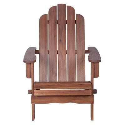 Boardwalk Dark Brown Outdoor Wood Adirondack Chair