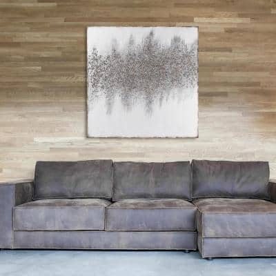 """""""Golden Dust"""" Textured Metallic Hand Painted by Martin Edwards Abstract Canvas Wall Art"""
