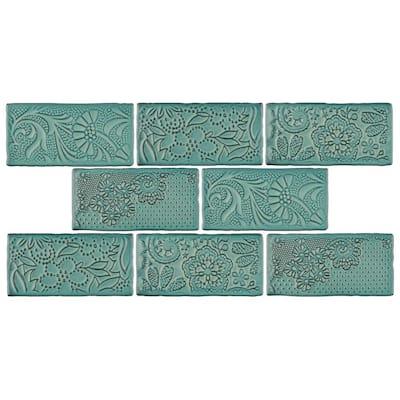 Antic Feelings Lava Verde 3 in. x 6 in. Ceramic Subway Wall Tile (4.38 sq. ft. / Case)