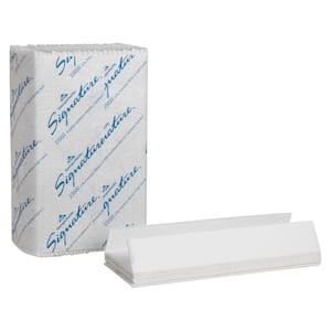 Signature White Premium C-Fold Paper Towels 2-Ply (1440 per Carton)