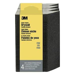 2.875 in. x 4.875 in. x 1 in. (7.30 cm x 12.38 cm x 2.54 cm) 120 Grit Fine Angled Drywall Sanding Sponge