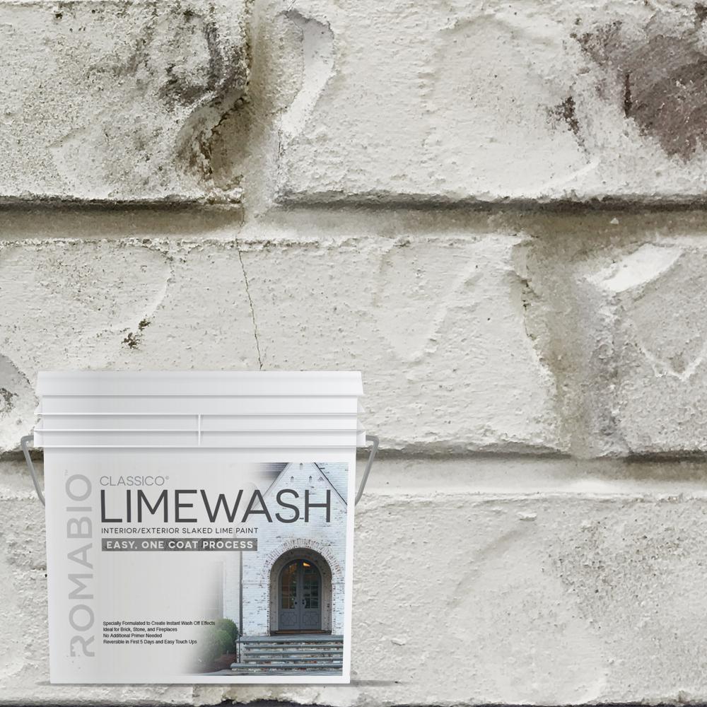 0.67 Gal. Cristallo White Limewash Interior/Exterior Paint