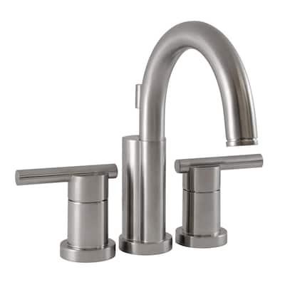 Geneva 4 in. Centerset 2-Handle Bathroom Faucet in Satin Nickel
