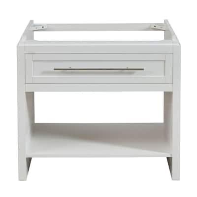 36 in. W x 23 in. D Bath Vanity Cabinet Only in White