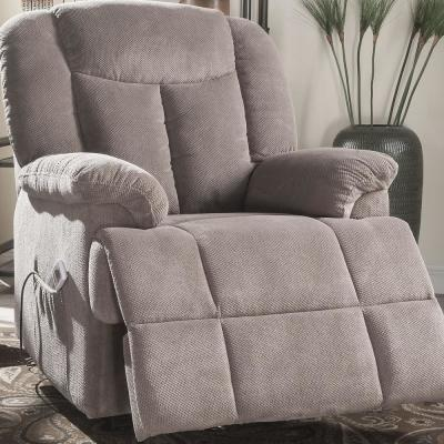 Ixia Light Brown Fabric Recliner with Power Lift and Massage