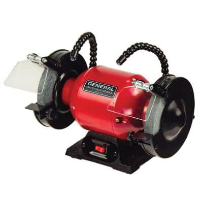 2 Amp 6 in. Bench Grinder with Twin LED Work Lights