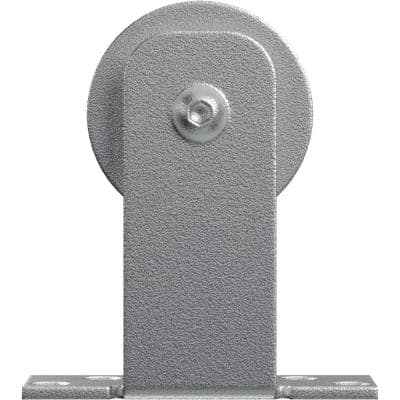 1-1/4 in. x 3-1/2 in. x 4 in. Steel Economy Straight Top Silent Roller Hanger Moulding Silver Metallic