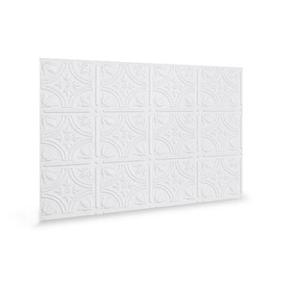 18.5'' x 24.3'' Empire Decorative 3D PVC Backsplash Panels in White 6-Pieces