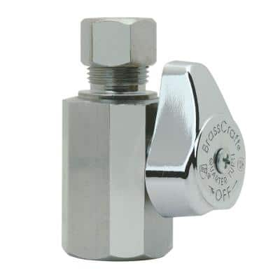1/2 in. FIP Inlet x 3/8 in. Compression Outlet 1/4-Turn Straight Valve