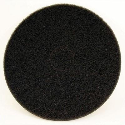 17 in. Non-Woven Black Buffer Pad