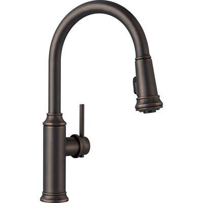 EMPRESSA Single-Handle Pull-Down Sprayer Kitchen Faucet in Oil Rubbed Bronze