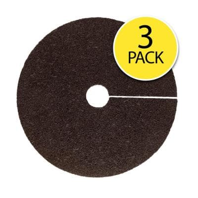 0.5 in. x 24 in. Brown Recycled Rubber Tree Ring (3-Pack)
