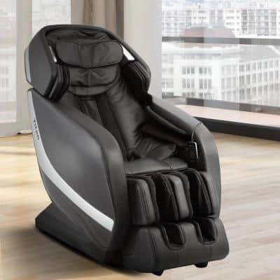 Pro Jupiter XL Series Black Faux Leather Reclining Massage Chair with 3D L-Track, Bluetooth Speakers, XL Height Capacity