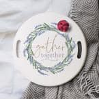 Gather together white Decorative wood Tray