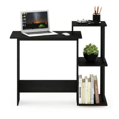 40 in. Rectangular Americano Computer Desk with Shelves