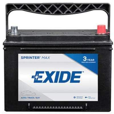 SPRINTER MAX 12 volts Lead Acid 6-Cell 34 Group Size 800 Cold Cranking Amps (BCI) Auto Battery
