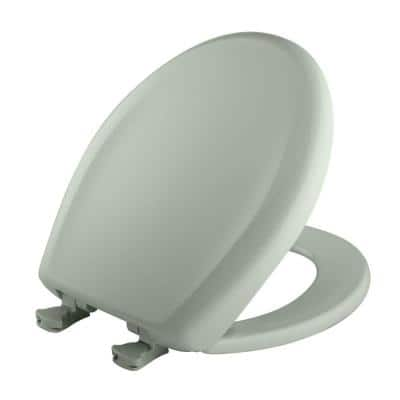 Round Closed Front Toilet Seat in Sea Mist Green